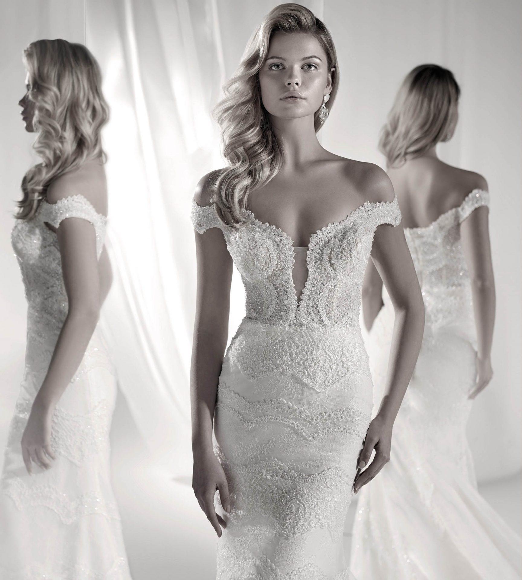 N 7343 Nicole Spose Brautkleid Im Luxuriosen Boho Stil Mit Double