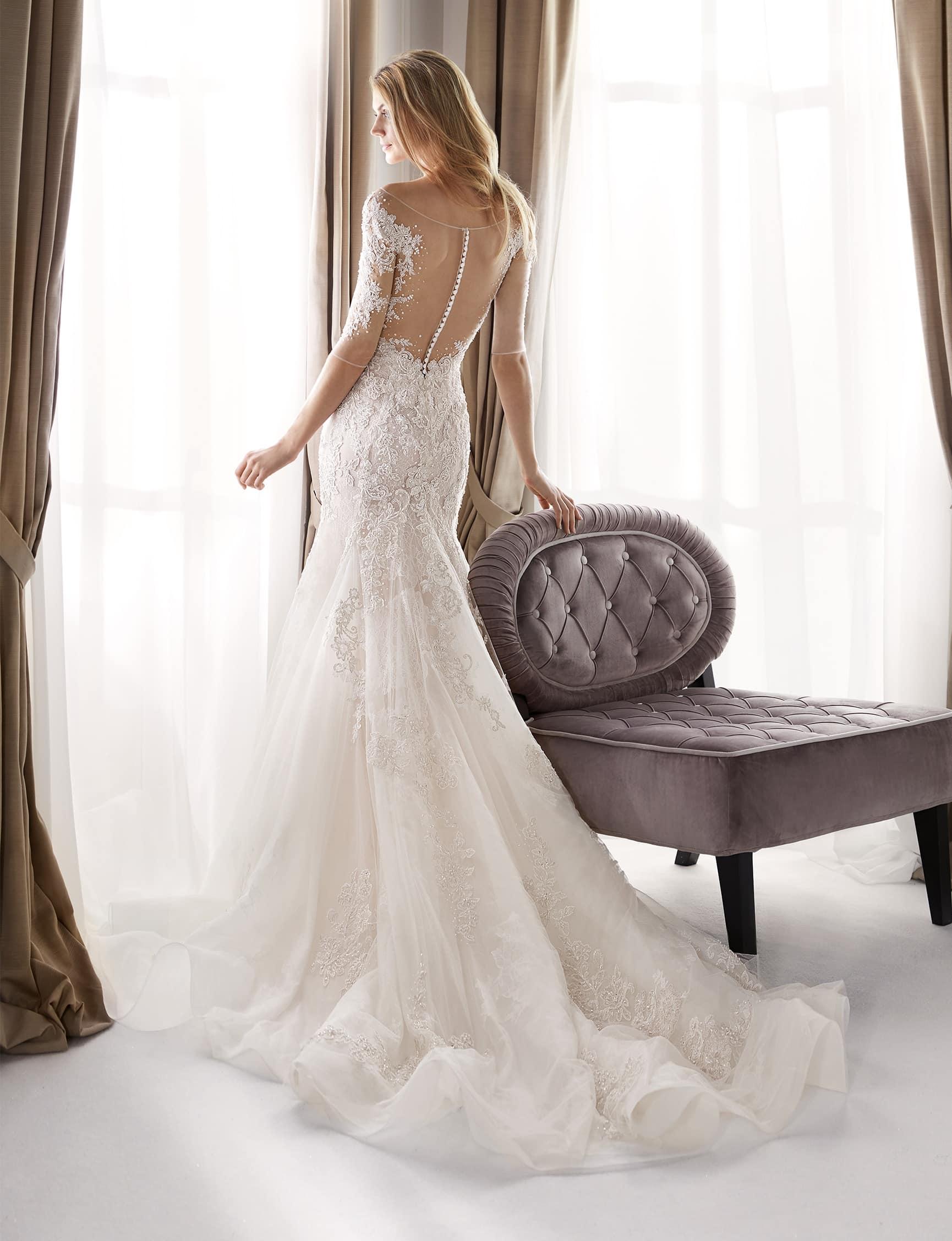 Luxus Vintage Brautkleid  Nicole Milano NIA18